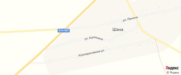 Улица Калинина на карте улуса Шаны с номерами домов