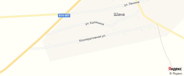 Кооперативная улица на карте улуса Шаны с номерами домов