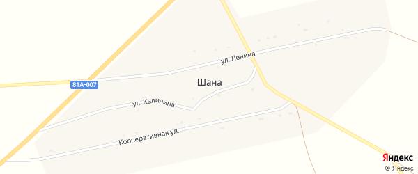 Молодежная улица на карте улуса Шаны с номерами домов