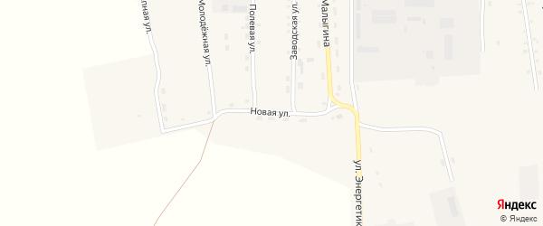 Новая улица на карте села Селендума с номерами домов