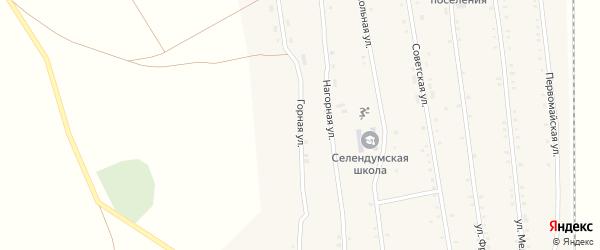 Горная улица на карте села Селендума с номерами домов