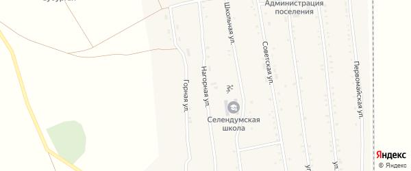 Нагорная улица на карте села Селендума с номерами домов