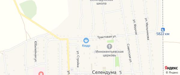Трактовая улица на карте села Селендума с номерами домов