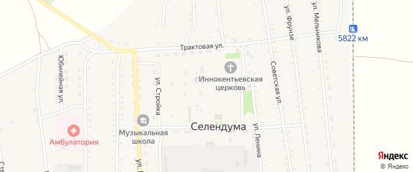 Улица Малыгина на карте села Селендума с номерами домов