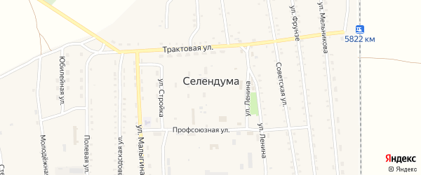 Улица Мост Темник на карте села Селендума с номерами домов