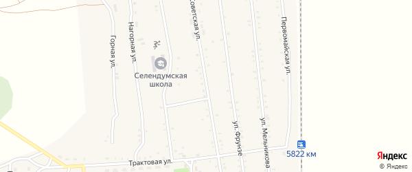 Советская улица на карте села Селендума с номерами домов