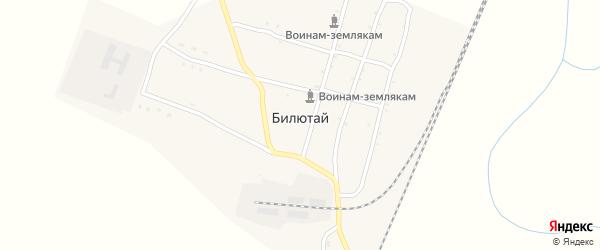 Подгорная улица на карте села Билютай с номерами домов