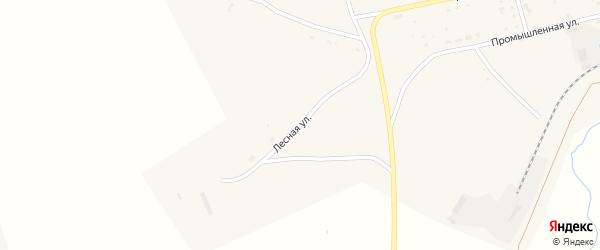 Лесная улица на карте села Гусиного Озера с номерами домов