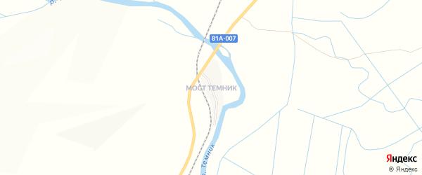 Местность Верхний Темник на карте села Селендума с номерами домов