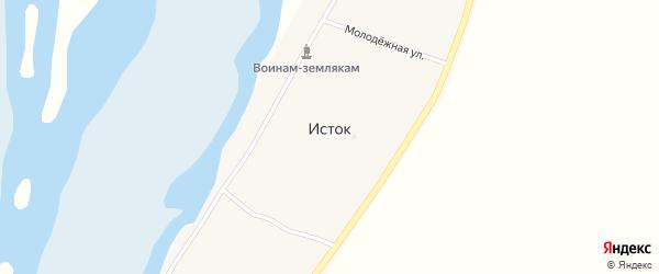 Новая улица на карте села Истока с номерами домов