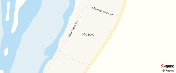 Улица Нелюбина на карте села Истока с номерами домов