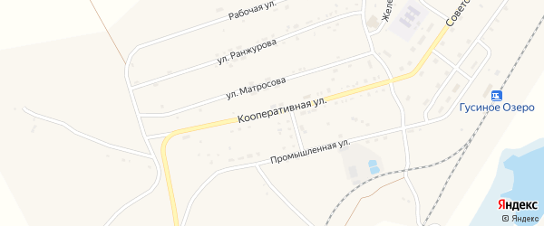 Кооперативная улица на карте села Гусиного Озера с номерами домов