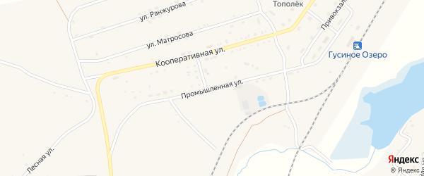 Промышленная улица на карте села Гусиного Озера с номерами домов