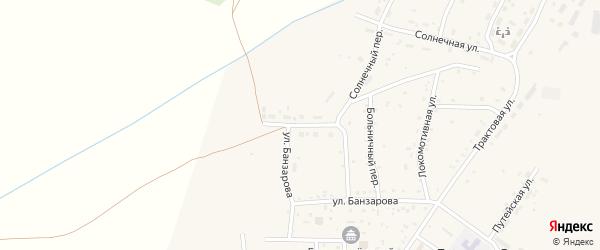 Улица Строителей на карте села Гусиного Озера с номерами домов