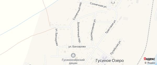Больничный переулок на карте села Гусиного Озера с номерами домов