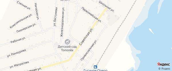 Советская улица на карте села Гусиного Озера с номерами домов