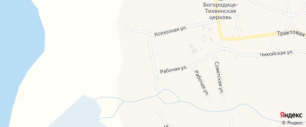 Комсомольская улица на карте села Усть-Кяхты с номерами домов