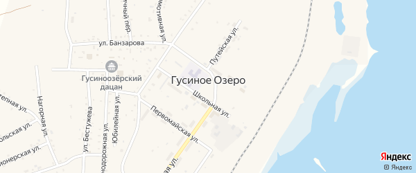 Улица Рыбхоз на карте села Гусиного Озера с номерами домов