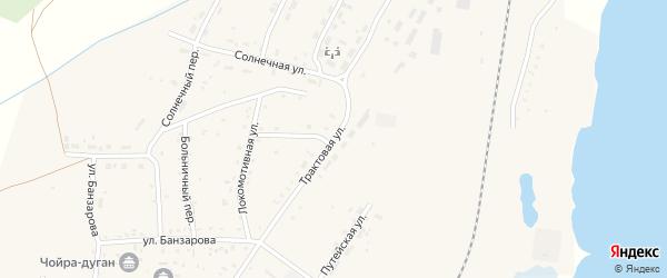 Трактовая улица на карте села Гусиного Озера с номерами домов