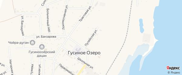 Путейская улица на карте села Гусиного Озера с номерами домов