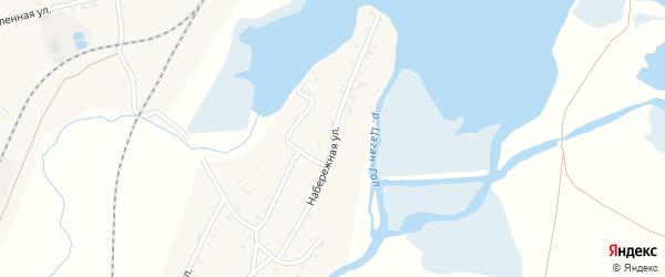 Набережная улица на карте села Гусиного Озера с номерами домов