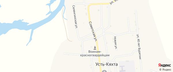 Нагорная улица на карте села Усть-Кяхты с номерами домов