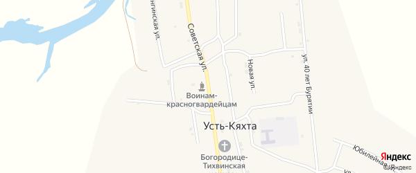 Советская улица на карте села Усть-Кяхты с номерами домов