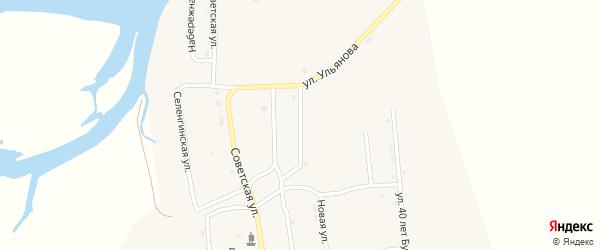 Улица Терешковой на карте села Усть-Кяхты с номерами домов