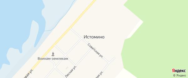 Первомайская улица на карте села Истомино с номерами домов