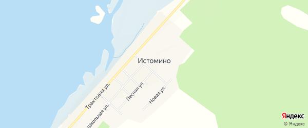 Карта села Истомино в Бурятии с улицами и номерами домов