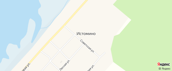 Кооперативная улица на карте села Истомино с номерами домов