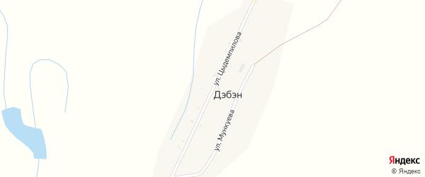 Улица Цыдемпилова на карте улуса Дэбэн с номерами домов
