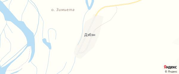 Карта улуса Дэбэн в Бурятии с улицами и номерами домов