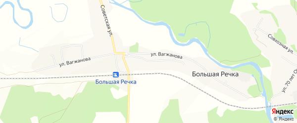 Карта села Большей Речки в Бурятии с улицами и номерами домов