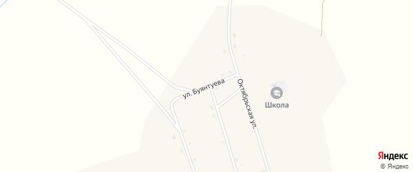 Улица Буянтуева на карте улуса Ехэ-Цаган с номерами домов