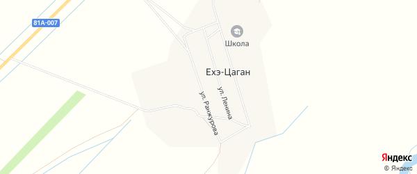 Местность Черный камень на карте улуса Ехэ-Цаган с номерами домов