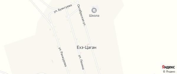 Октябрьская улица на карте улуса Ехэ-Цаган с номерами домов