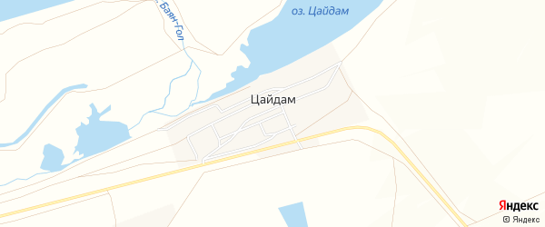 Местность Гусеферма на карте улуса Цайдам с номерами домов