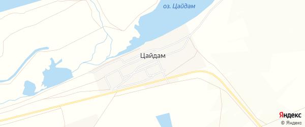 Местность Нарин-Горхон на карте улуса Цайдам с номерами домов