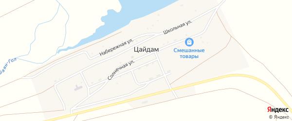 Солнечная улица на карте улуса Цайдам с номерами домов