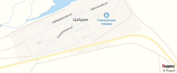 Южная улица на карте улуса Цайдам с номерами домов