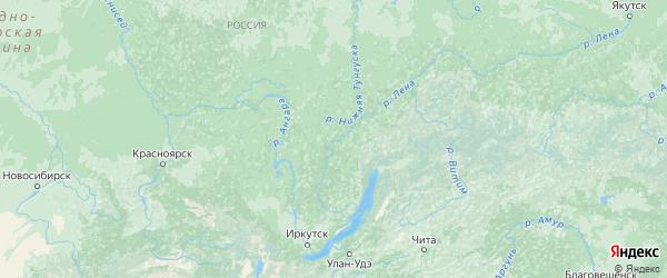 Карта Иркутской области с городами и районами