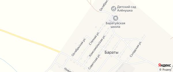Октябрьская улица на карте поселка Бараты с номерами домов