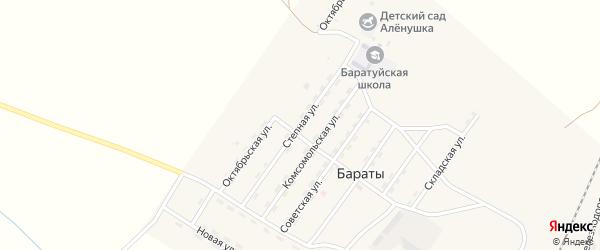 Степная улица на карте поселка Бараты с номерами домов