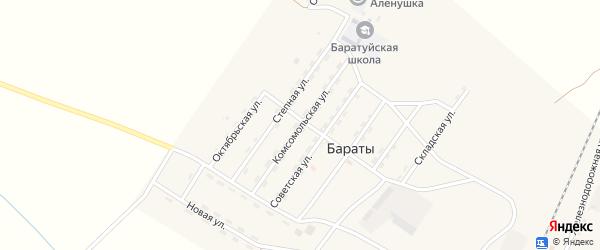Комсомольская улица на карте поселка Бараты с номерами домов