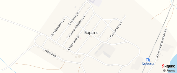 Профсоюзная улица на карте поселка Бараты с номерами домов
