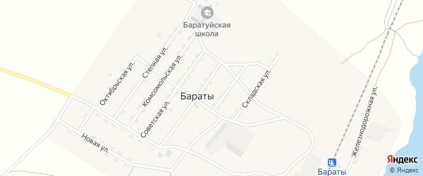 Железнодорожная улица на карте поселка Бараты с номерами домов