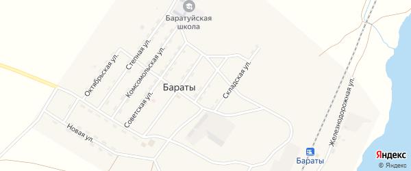 Шоферская улица на карте поселка Бараты с номерами домов