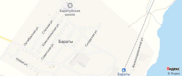 Складская улица на карте поселка Бараты с номерами домов