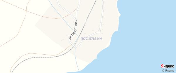Улица Полустанок на карте поселка Бараты с номерами домов